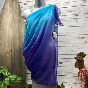 NWT Cocktail Pareos Lavender Blue Ombre Pareo